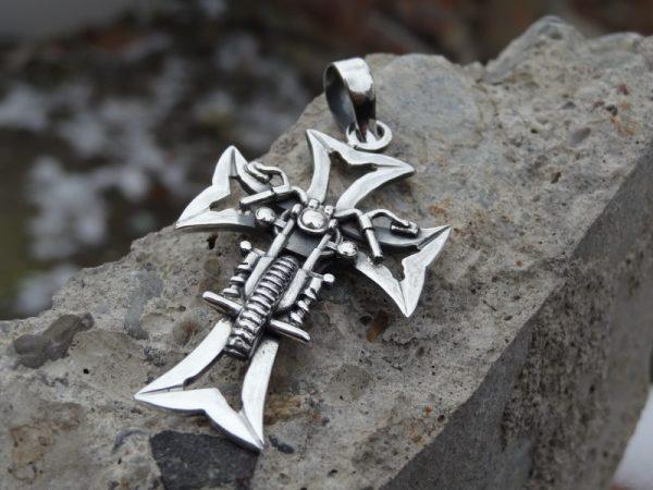 Biker silver cross